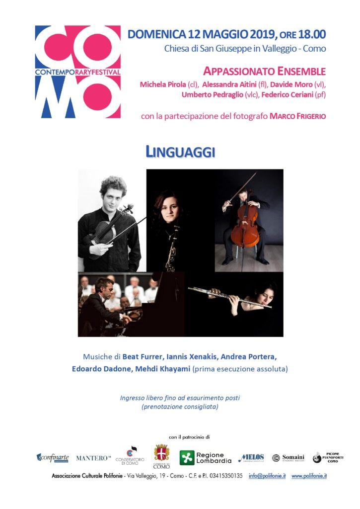 Concerto 12 maggio - LINGUAGGI