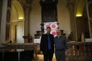 Il poeta Alessandro Quattrone con il direttore artistico del festival Umberto Pedraglio